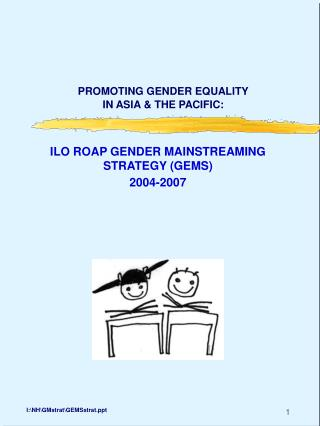 PROMOTING GENDER EQUALITY IN ASIA & THE PACIFIC: