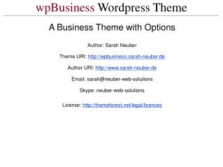 wpBusiness  Wordpress Theme