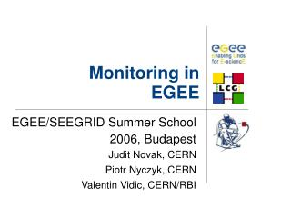 Monitoring in EGEE