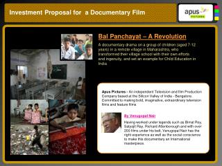 Investment Proposal for  a Documentary Film