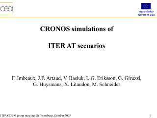 CRONOS simulations of  ITER AT scenarios
