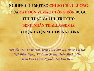 Nguyễn Thị Thanh  Mai,  Trần Thị Hồng Hà ,  Đặng Thị Hà ,