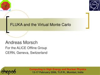FLUKA and the Virtual Monte Carlo