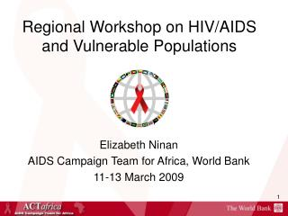 Regional Workshop on HIV/AIDS and Vulnerable Populations