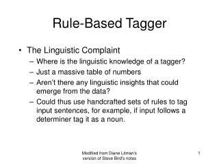 Rule-Based Tagger