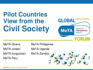 Pilot Countries View from the  Civil Society
