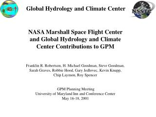 Global Hydrology and Climate Center