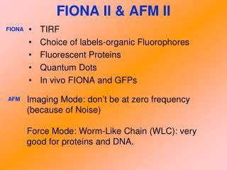 FIONA II & AFM II