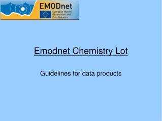 Emodnet Chemistry Lot