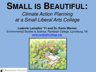 Small is Beautiful: Climate Action Planning  at a Small Liberal Arts College