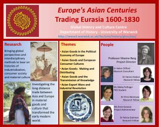 Europe's Asian Centuries Trading Eurasia 1600-1830 Global History and Culture Centre