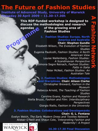 3. Fashion Studies: Collaborations and Developments  Chair: G. L. Fontana