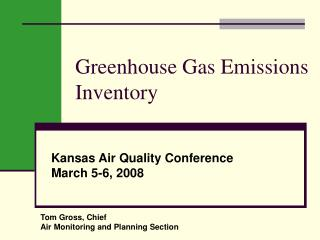 Greenhouse Gas Emissions Inventory