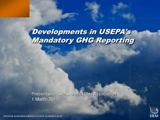 Developments in USEPA's Mandatory GHG Reporting