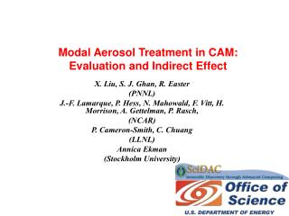 Modal Aerosol Treatment in CAM:  Evaluation and Indirect Effect