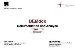 BEMdok Dokumentation und Analyse Toolbox