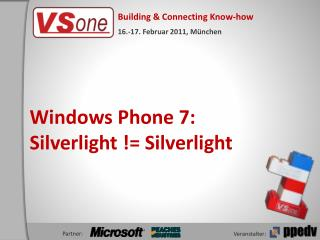 Windows Phone 7: Silverlight != Silverlight
