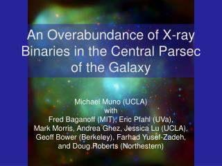 An Overabundance of X-ray Binaries in the Central Parsec of the Galaxy