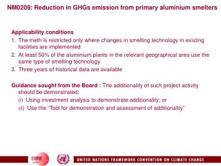 NM0209: Reduction in GHGs emission from primary aluminium smelters