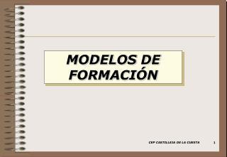 MODELOS DE FORMACIÓN