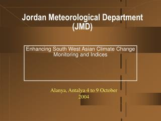 Jordan Meteorological Department  (JMD)