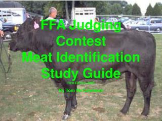 FFA Judging Contest