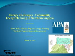 Energy Challenges – Community Energy Planning in Northern Virginia ----------