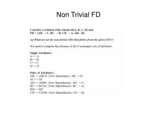 Non Trivial FD