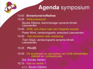 Agenda  symposium