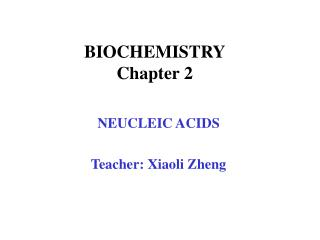 BIOCHEMISTRY Chapter 2