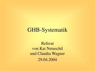 GHB-Systematik