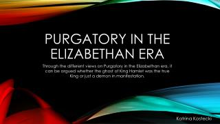 Purgatory in the Elizabethan era