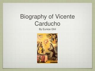 Biography of Vicente Carducho