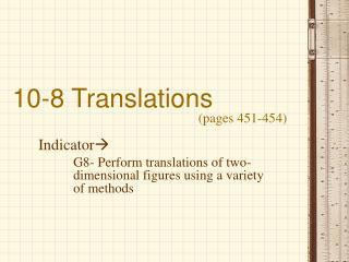 10-8 Translations