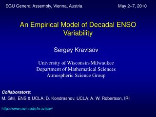 An Empirical Model of Decadal ENSO Variability
