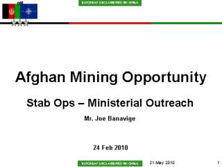 Afghan Mining Opportunity