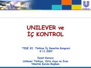 UNILEVER ve I  KONTROL