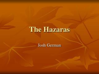 The Hazaras