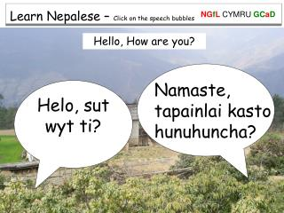 Learn Nepalese –  Click on the speech bubbles