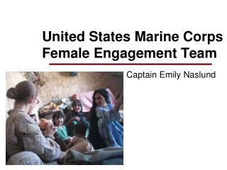 United States Marine Corps Female Engagement Team