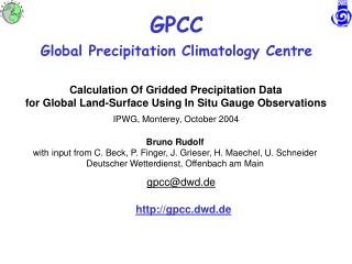 GPCC Global Precipitation Climatology Centre