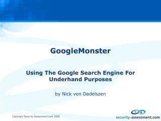 GoogleMonster
