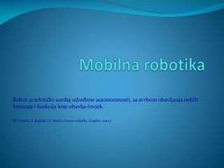 Mobilna robotika