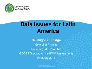 Data Issues for Latin America
