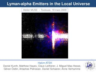 Lyman-alpha Emitters in the Local Universe