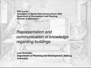 Representation and communication of knowledge regarding buildings