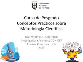 Curso de Posgrado Conceptos Prácticos sobre Metodología Científica