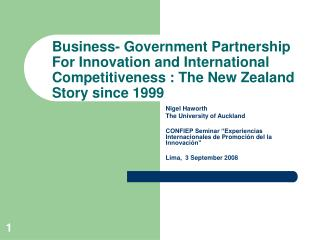 Nigel Haworth The University of Auckland