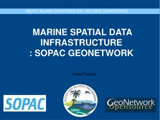 MARINE SPATIAL DATA INFRASTRUCTURE : SOPAC GEONETWORK