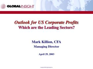 Outlook for US Corporate Profits Which are the Leading Sectors?